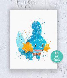 Pokemon Mudkip Pokemon Print Pokemon Poster by AllArtPrints