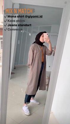Casual Hijab Outfit, Ootd Hijab, Hijab Chic, Casual Outfits, Fashion Outfits, Women's Fashion, Modern Hijab Fashion, Hijab Fashion Inspiration, Muslim Fashion