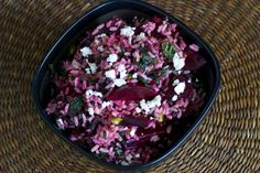 Red Rice, Roasted Beets And Greens by Susan Russo, npr #Beets #Rice #Susan_Russo #npr