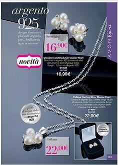 alla scoperta di AVON : ARGENTO 925 COLLANA 22€ ORECCHINI 16.90€ design ...