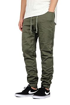 a79b66ccb7914 Editor choice Mersenne Men's Twill Drop Crotch Jogger Pants. Explore our Men  Fashion section featuring