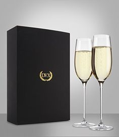 The Excelsior 100 LeadFree Handmade Crystal Champagne Flutes Set of 2 Glasses >>> Check this awesome product by going to the link at the image. Best Champagne, Wedding Champagne Flutes, Crystal Champagne, Champagne Glasses, Wine Time, Wines, Crystals, Tableware, Handmade
