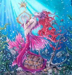 aniri_art • Siren #mythomorphia #mythomorphiacoloringbook #coloringbook #adultcoloringbook #lyrarembrandt #giottostilnovo #мифоморфозы…