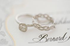Love the engagement ring! And I love the uniqueness of the wedding band!