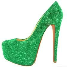 """I see these green heels and think of Wicked and Elphaba and """"One Short Day!"""""""