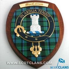 Extra Large MacCallum Clan Crest Plaque