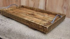 Large Rustic Serving Tray / Platter Made From por NewPurposeDesign
