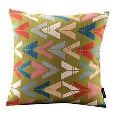 Geometric Cotton/Linen Decorative Pillow Cover – CAD $ 18.06