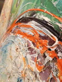 Detailfoto schilderij 'Beschreven hart' Wilma Veen