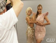 """America's Next Top Model -- """"The Girl Who Becomes America's Next Top Model"""" pictured left to right: Laura and Tyra Banks Cycle 19 Photo: Angelo Sgambeti/The CW ©2012 The CW Network, LLC. All Rights Reserved"""