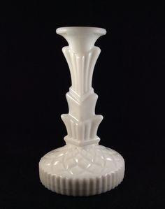 Milk glass L. E. Smith candlestick 1930's-1950's
