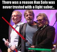Comic Con 2015 - San Diego - Star Wars Actors Harrison Ford, Mark Hamill and Carrie Fisher San Diego, She Wolf, Star War 3, Mark Hamill, The Force Is Strong, Lol, Harrison Ford, Carrie Fisher, Star Wars Humor