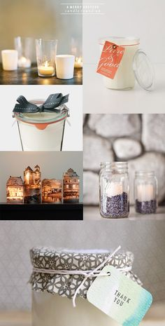 votive candles in jars of lavendar   a subtle revelry