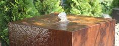 NEU ! CORTENSTAHL Brunnen Decorative Boxes, Led, Table, Home Decor, Corten Steel, Water Games, Waterfall, Lighting, Stones