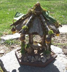 ... GARDEN GAZEBO Fairie Cottage Fae Furniture Rustic Twig Faery on Etsy
