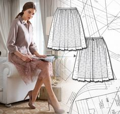 Sewing Lesson: Lace Skirt 105 12/2012 - I'll bet you have fabric in your stash for this!