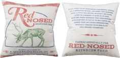 Red Nosed Reindeer Feed Pillow - The Holiday Barn