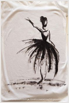 iLoveToCreate Blog: DIY Watercolor Ballerina Tee