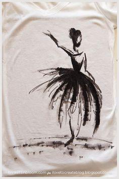 iLoveToCreate Blog: DIY Watercolor Ballerina Tee