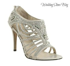 Get 50 Shades of Grey with a Pair of Grey Rhinestoned Open Toe Bridal Shoes. http://www.weddingshoesblog.com/get-50-shades-of-grey-with-a-pair-of-grey-rhinestoned-open-toe-bridal-shoes/ #wedding #shoes #style #fashion