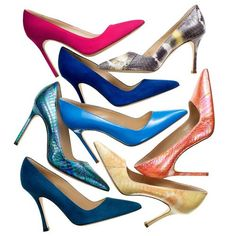 """I've always liked court shoes, especially with thin, high heels…"" - Manolo Blahnik on his classic BB"