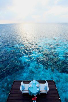 Centara Grand Island Resort & Spa, Maldives. Hard to beat that ocean view!