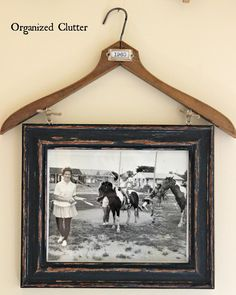 Organized Clutter: Vintage Clothes Hanger Re-purpose