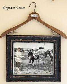 Vintage clothes hanger re-purpose