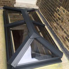 aluminium skylight powder coated in anthracite, RAL7016