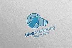 Idea Marketing Financial Logo 54 by denayunebgt on @creativemarket Marketing Logo, Financial Logo, Logos, Logo