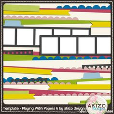 Free Digital Scrapbooking Page Layout
