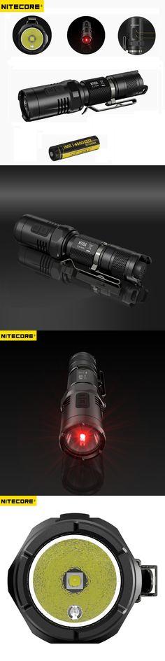 NITECORE MT10A EDC 920 lumens CREE XM-L2 U2 LED Flashlight Torch with Red +White Light by Nitecore 14500 battery