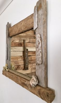 Driftwood and rope mirror