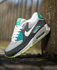 aad0267098b Trendy Ideas For Women s Sneakers   Nike Air Max 90 GS  Turbo Green   Venom  Green  - Flashmode Worldwide