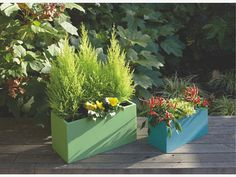 Habitat - RHODE Small blue fibreglass planter