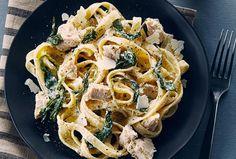 Recipes - Chicken and Spinach Alfredo » Chicken.ca #SchoolYourChicken