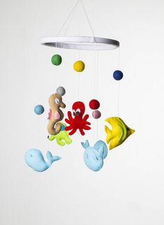 Baby mobile Baby mobile hanging Ocean Mobile Sea creatures Baby Crib Mobile Nursery mobile decor Baby mobile sea Under the Sea Baby gift