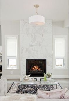 7 Simple and Crazy Ideas Can Change Your Life: Fireplace With Tv Above Hidden slate fireplace corner.Slate Fireplace Corner fireplace and mantels moldings.Black Fireplace Home Interiors. Farmhouse Fireplace, Home Fireplace, Fireplace Remodel, Living Room With Fireplace, Fireplace Surrounds, Fireplace Mantels, Living Room Decor, Fireplace Ideas, Marble Fireplace Surround