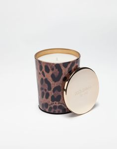 DOLCE & GABBANA SCENTED WAX CANDLE WITH PRINTED GLASS. #dolcegabbana #bags #leather #