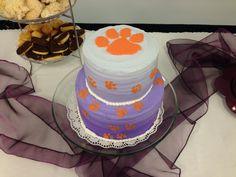 Clemson themed bridal shower cake