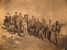 Crimean War: Officers of the Regiment of Foot, The war lasted from 1853 to France, Britain, the Ottoman Empire, and the Kingdom of Sardinia allied themselves to fight Russia. The war ended to the detriment of Russia. Fall Of Constantinople, Crimean War, American Revolutionary War, War Photography, British Colonial, King Of Kings, Ottoman Empire, British Army, World History