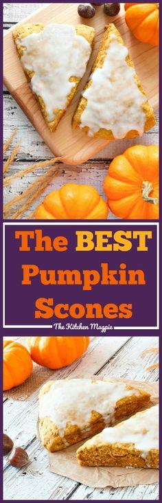 Pumpkin Scones ( Starbucks Copycat!). If you love Starbucks pumpkin scones,you will love these! #Starbucks #scones #baking #recipe