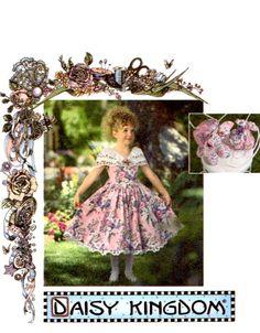 USED DAISY KINGDOM Dress Sewing Pattern for by KeepsakesStudio