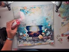 Start to finish Mixed media page TUTORIAL for MY Creative Scrapbook 'Our Story' - YouTube