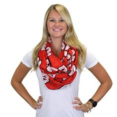 NC State Wolfpack Women's Red Block S Infinity Scarf