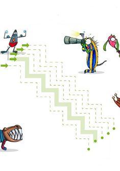 Grafomotricitate | Elena Stroe Cabinet Individual de Psihologie Tracing Worksheets, Preschool Worksheets, Pre Writing, Kindergarten, Dots, Symbols, Letters, Album, Drawings