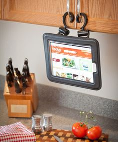 Oh my word I need this for my iPad for the kitchen.   Up and out of the way from getting splashed or spilled on.