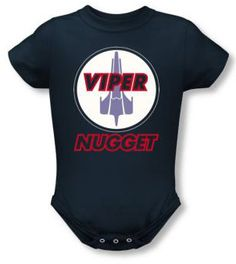 BSG Battlestar Galactica Colonial Viper Infant Onesie snapsuit Outfit your little Viper pilot with this adorable infant onesie snapsuit.