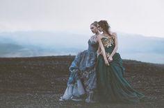 Producer: Miss Aniela Photographer: Lisa Griffin Stylist/Designer: Minna Attala Headpiece/Jewelry are stylist's own. Hair/Makeup: Grace Gray Models: Berglind Pétursdóttir and Carmen O.