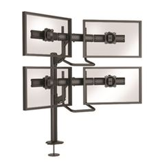 Flexibility meets form and function with the SUPER PC Kontour K4 Series of elegantly designed, Focal Depth Adjustable monitor array mounts from SUPER PC. Provides an aesthetic and easily adjustable solution for monitor array stations where multiple users will want to re-position the bank of displays to their preferred viewing distance; such as trading desks, call centers, security desks, IT, health care, control rooms & more.